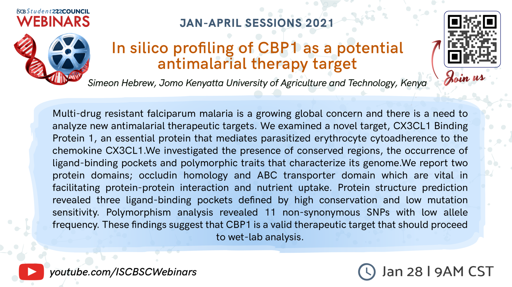 In silico profiling of CBP1 as a potential antimalarial therapy target