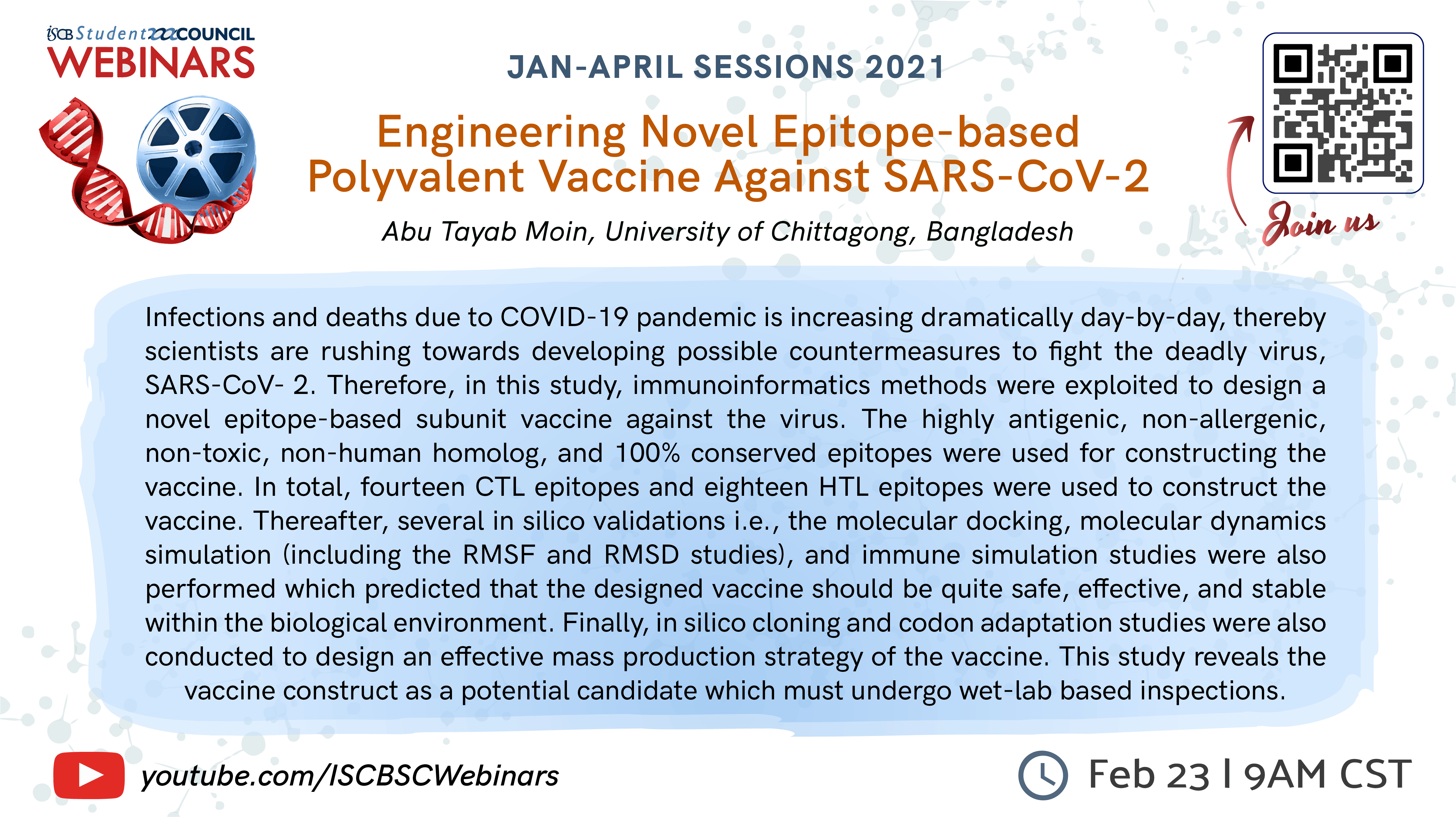 Abu Tayab Moin: Engineering Novel Epitope-based Polyvalent Vaccine Against SARS-CoV-2