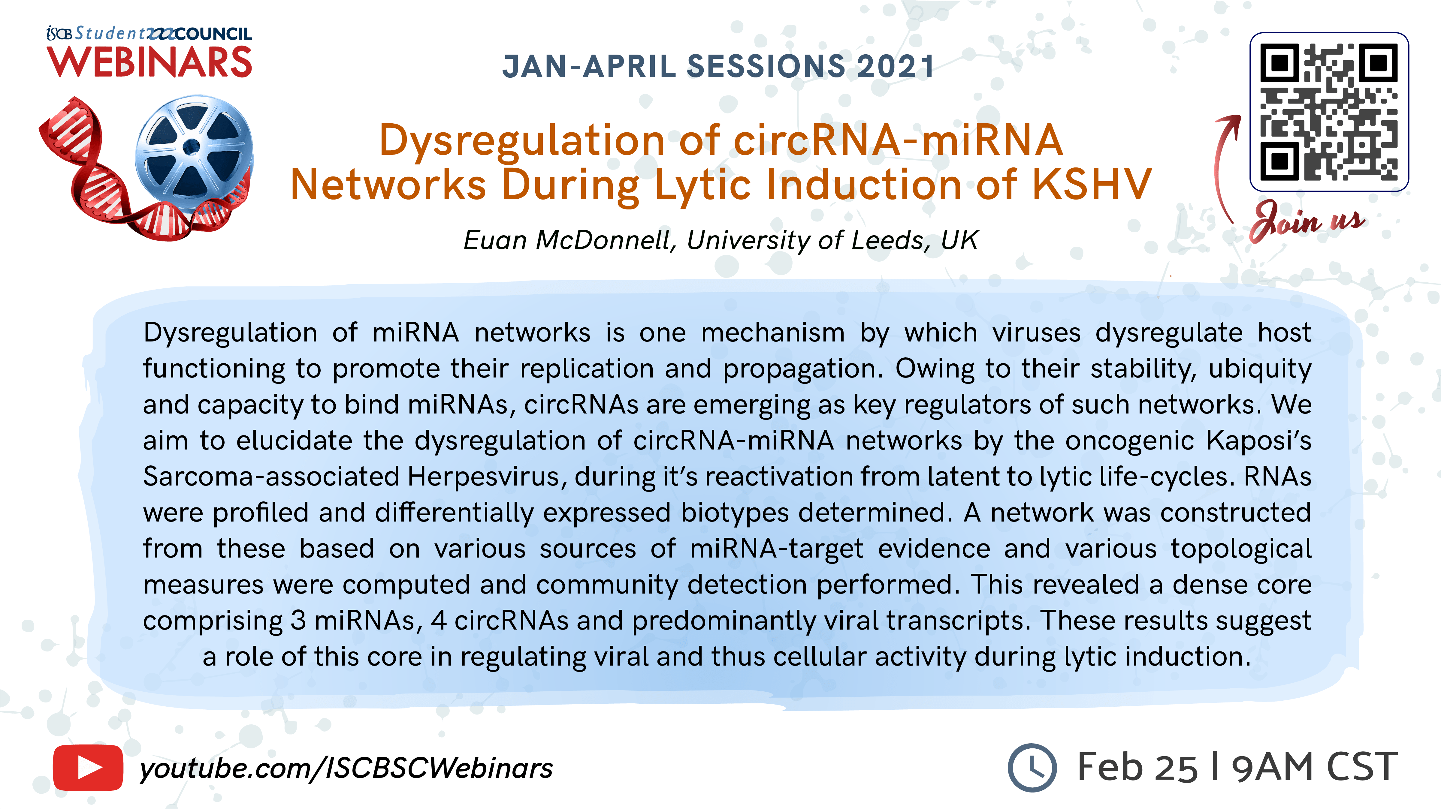 Euan McDonell: Dysregulation of circRNA-miRNA Networks During Lytic Induction of KSHV