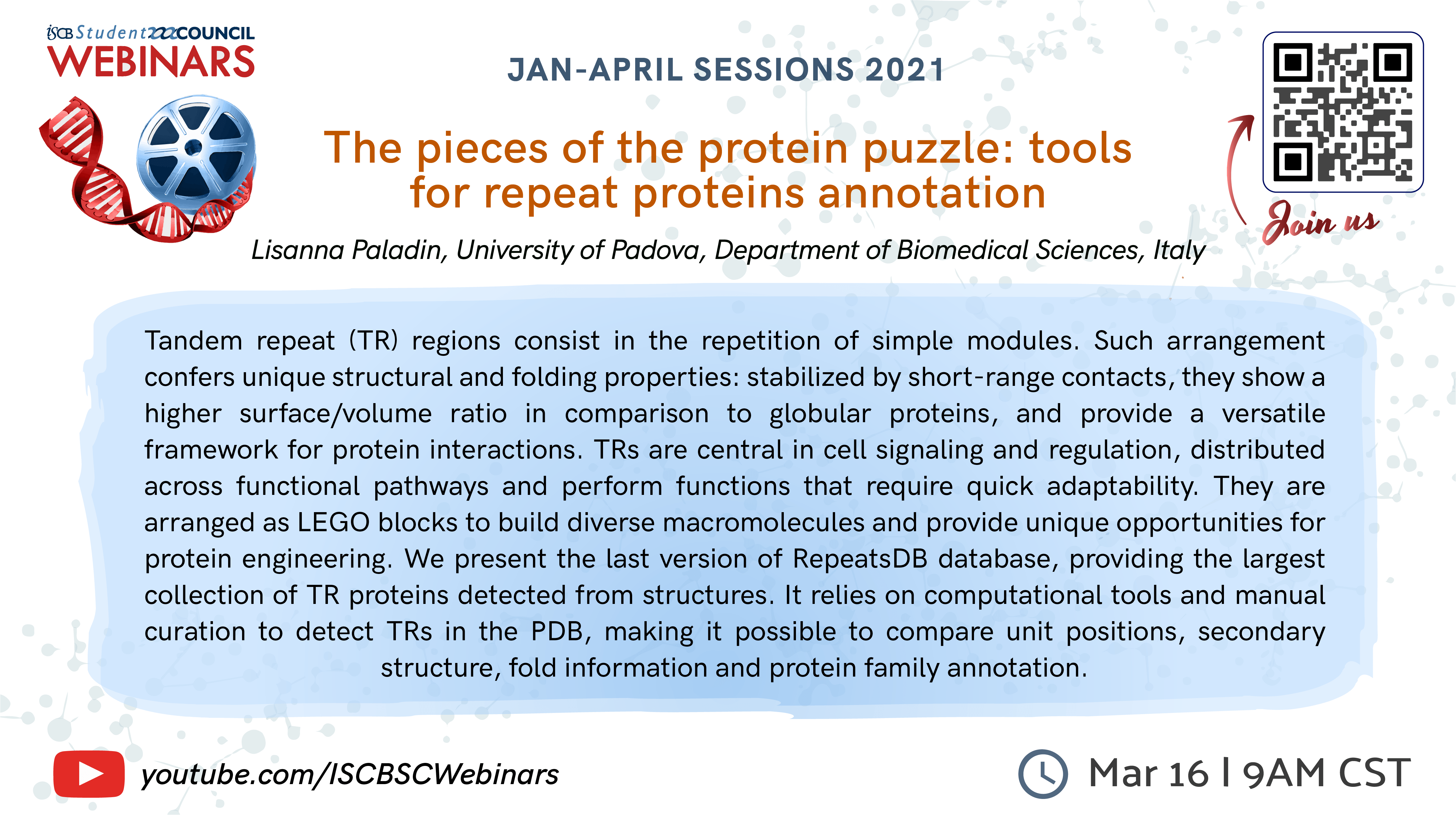 Lisanna Paladin: The pieces of the protein puzzle: tools for repeat proteins annotation